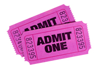Purple or pink tickets